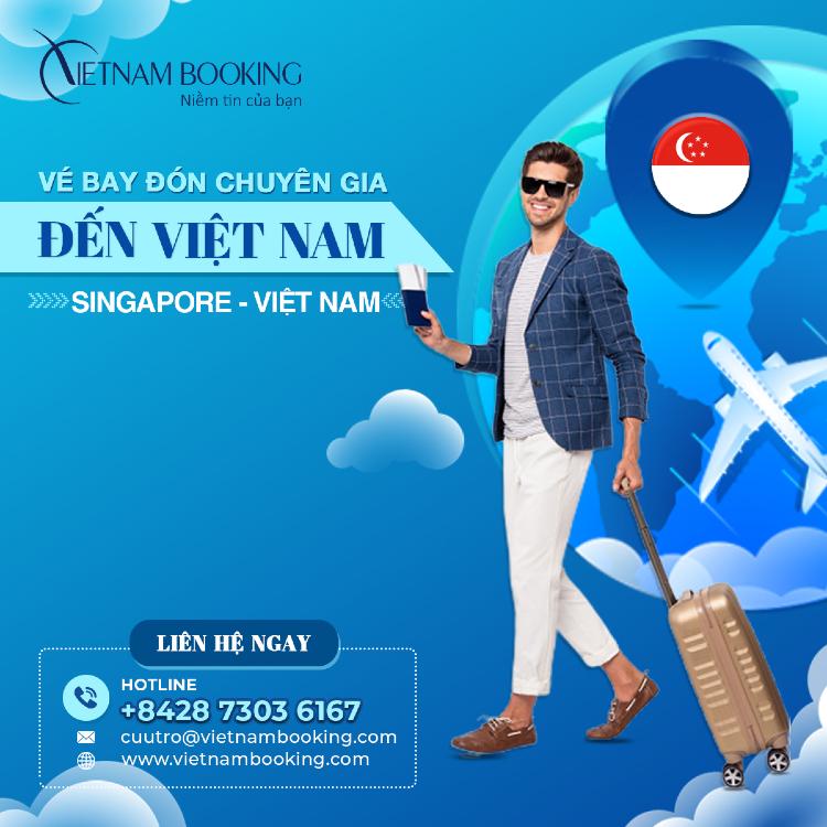 Chuyến bay chuyên gia nước ngoài từ Singapore về Hà Nội